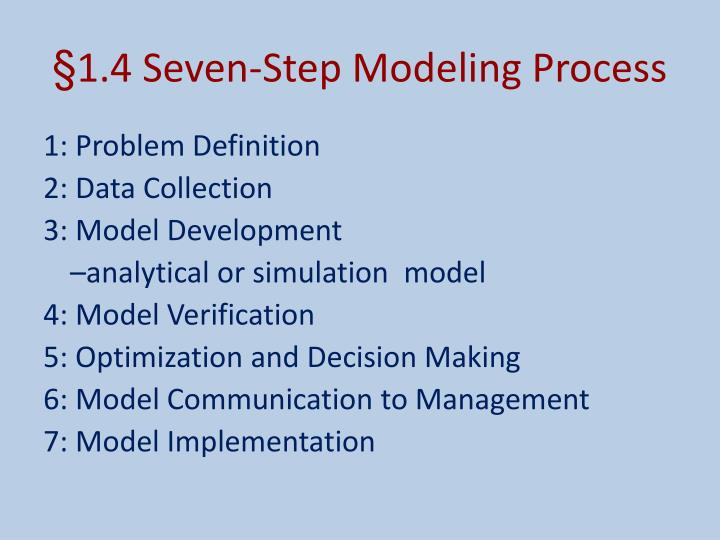1 4 seven step modeling process