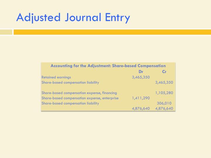 Adjusted Journal Entry