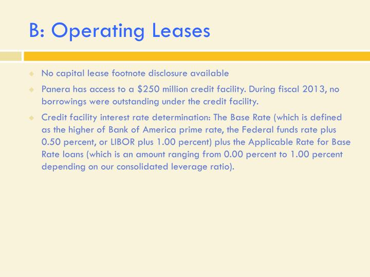 B: Operating Leases