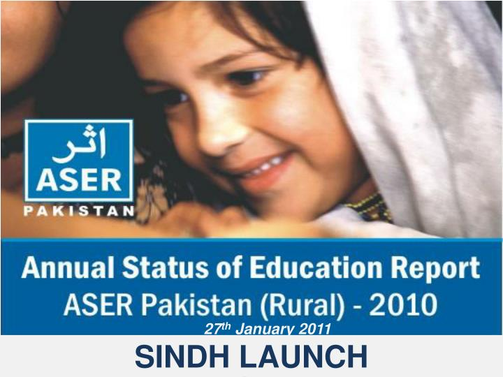 Sindh launch