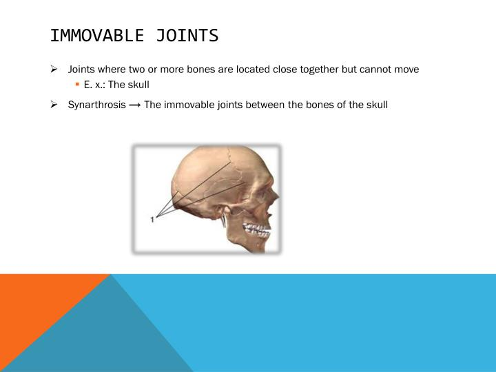 Immovable joints
