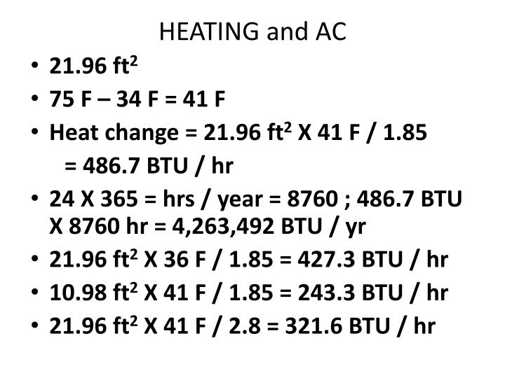 HEATING and AC