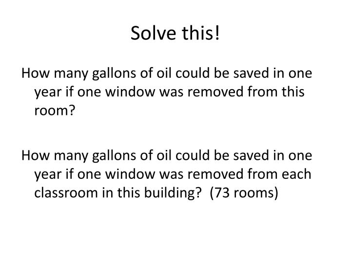 Solve this!