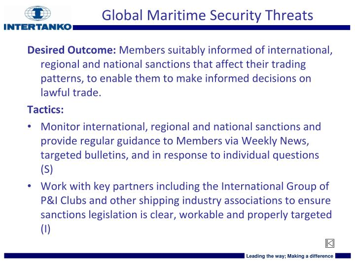 Global Maritime Security Threats