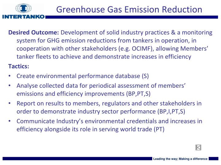 Greenhouse Gas Emission Reduction