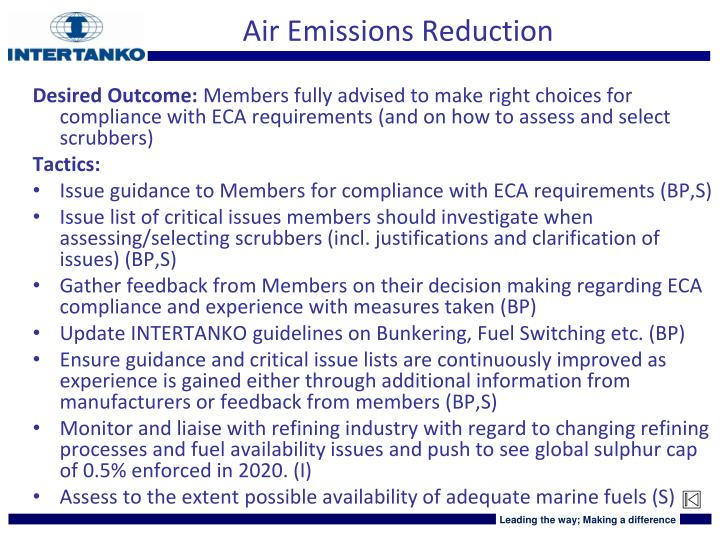 Air Emissions Reduction