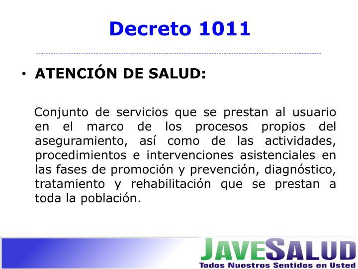 Decreto 1011