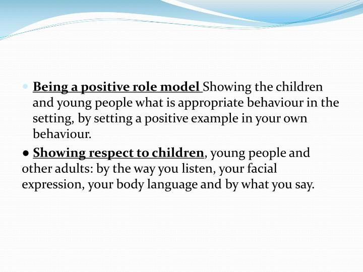 Supporting Children and Young People's positive behaviour