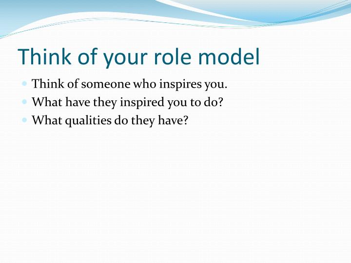 essay on qualities of a good role model 2013/09/09 points: introduction - qualities of a good friend - conclusion good friends are rare in this world one may have several-friends in the school or college but a real friend is rarely, to be found a real friendship is made up of.