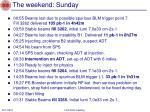 the weekend sunday