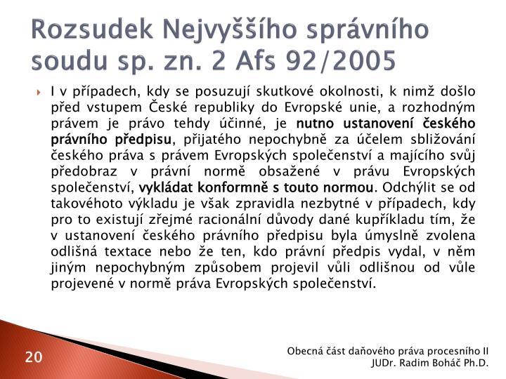 Rozsudek Nejvyššího správního soudu sp. zn. 2