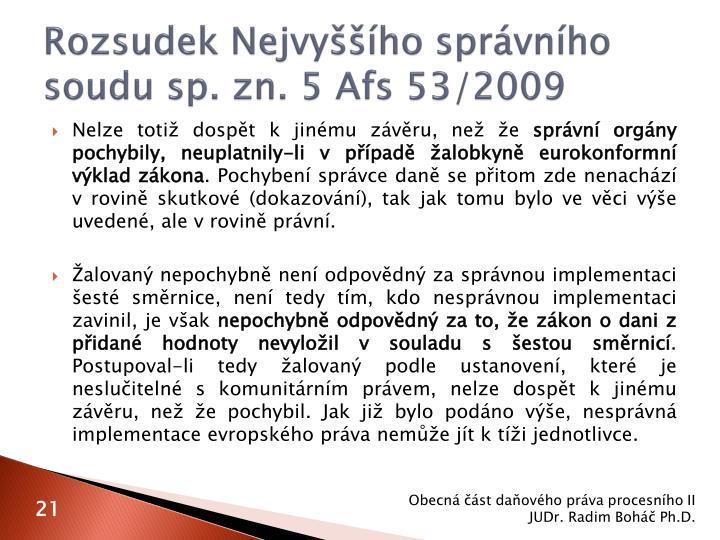Rozsudek Nejvyššího správního soudu sp. zn. 5