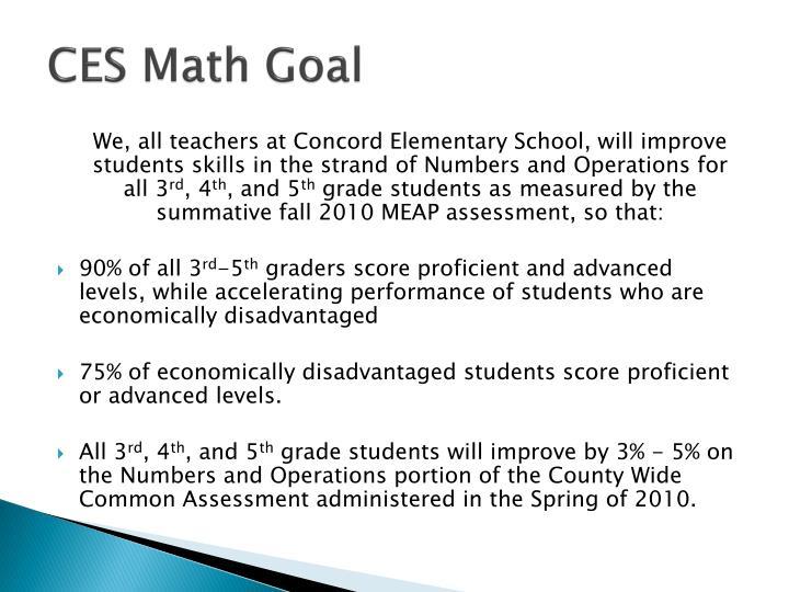 CES Math Goal