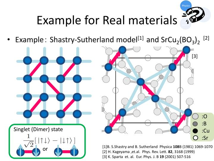 Example for Real materials