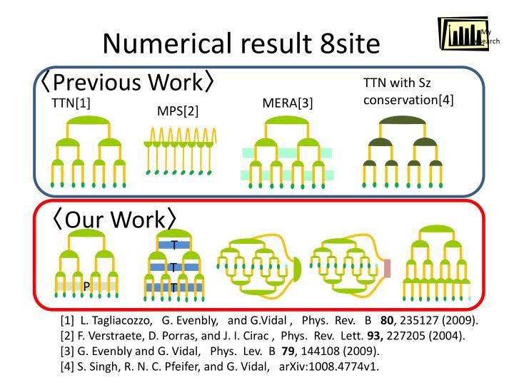 Numerical result 8site