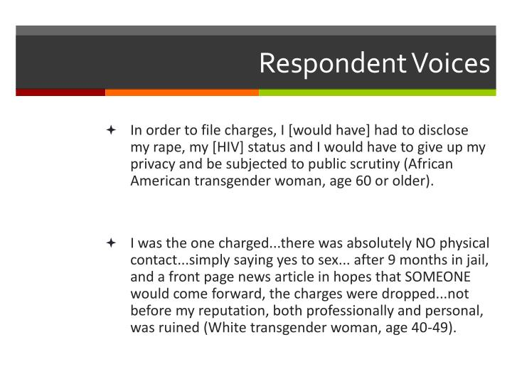 Respondent Voices