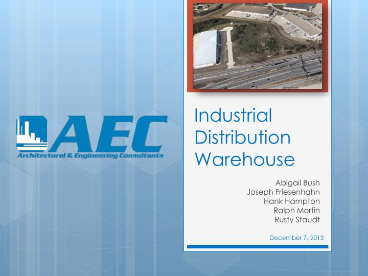 Industrial distribution warehouse