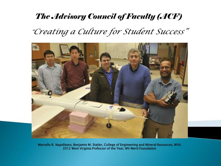 The Advisory Council of Faculty (AC