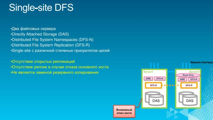 Single-site DFS