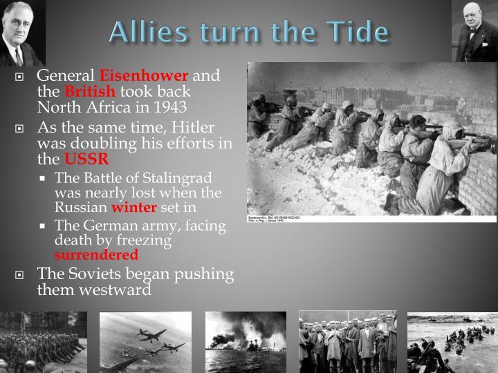 Allies turn the Tide