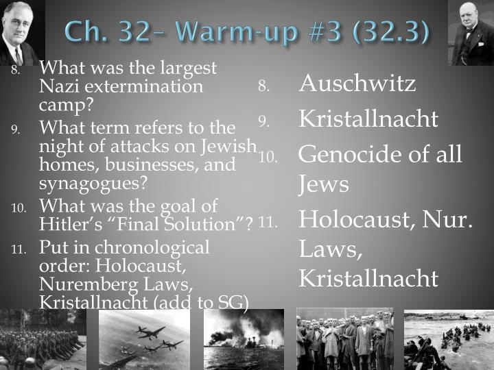 Ch. 32– Warm-up #3 (32.3)