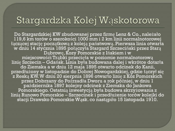 Stargardzka Kolej Wąskotorowa
