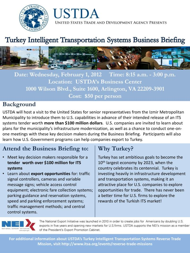 Turkey Intelligent Transportation Systems Business Briefing