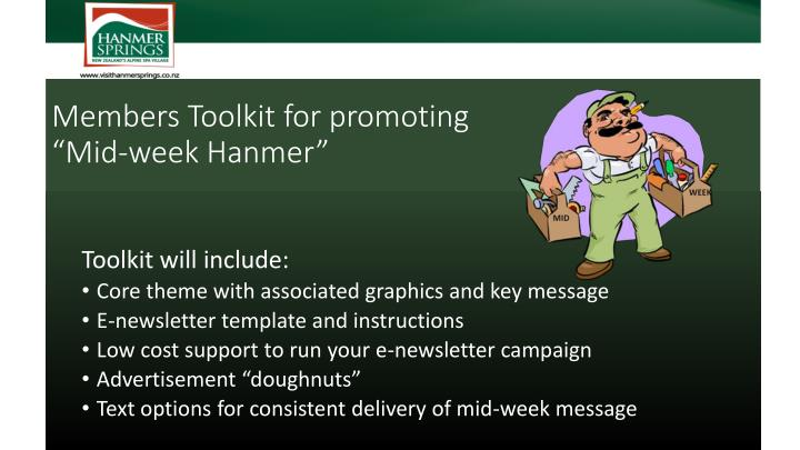 Members Toolkit for promoting