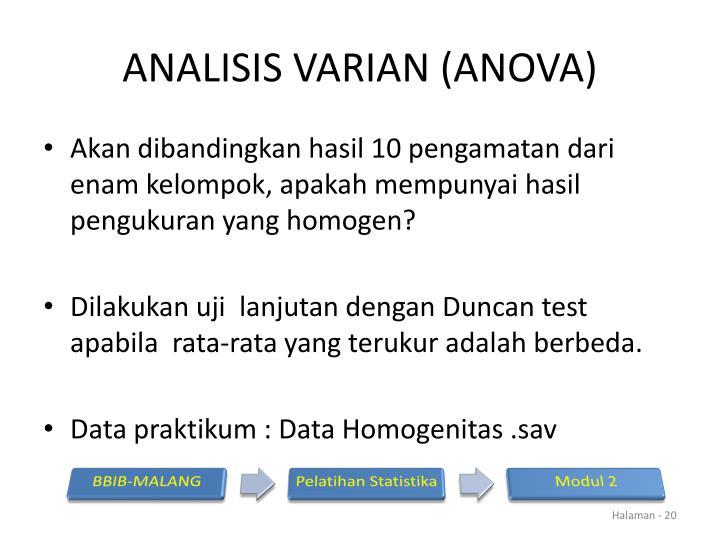 ANALISIS VARIAN (ANOVA)