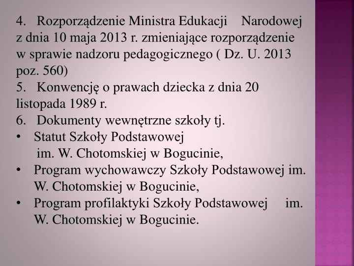 4.   Rozporządzenie
