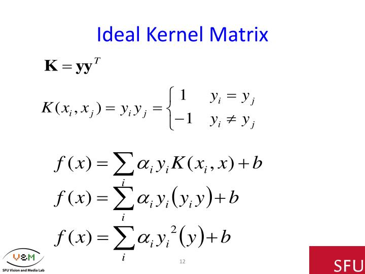 Ideal Kernel Matrix
