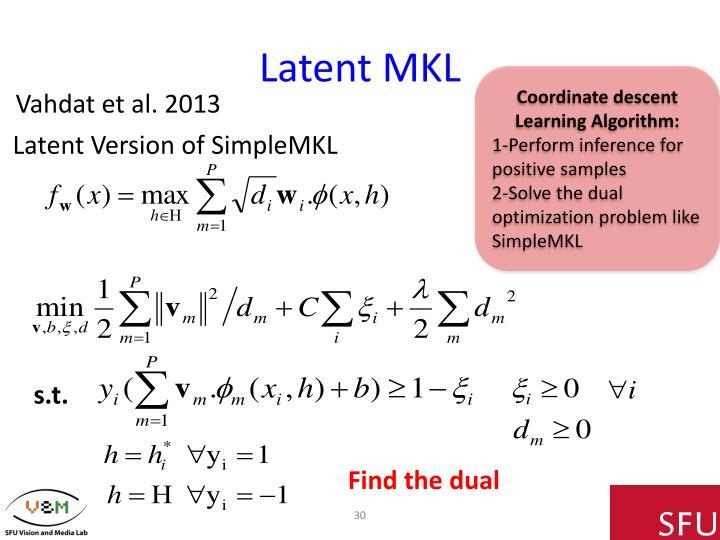 Latent MKL