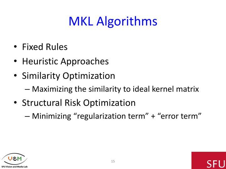 MKL Algorithms