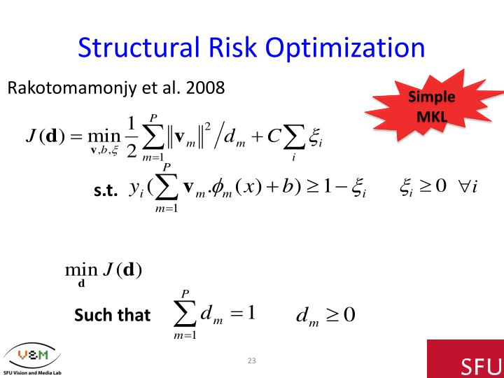 Structural Risk Optimization