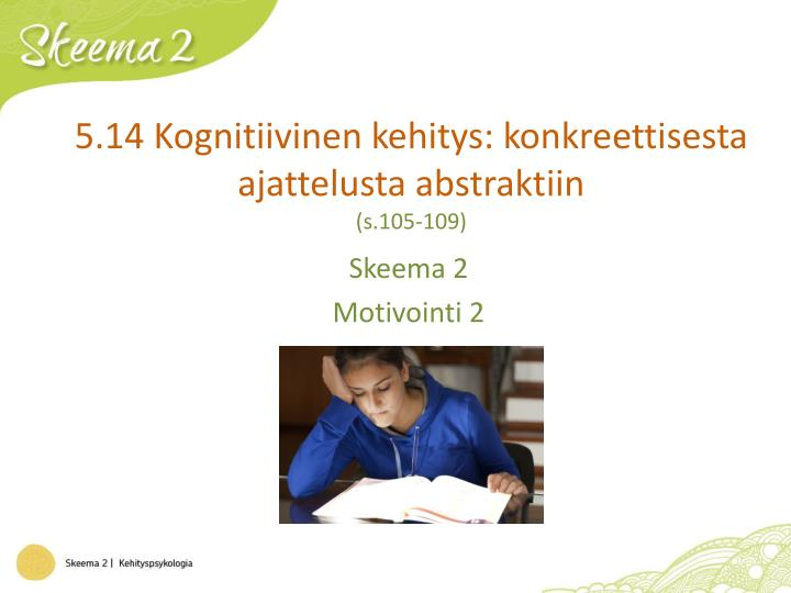 5.14 Kognitiivinen kehitys: konkreettisesta ajattelusta abstraktiin