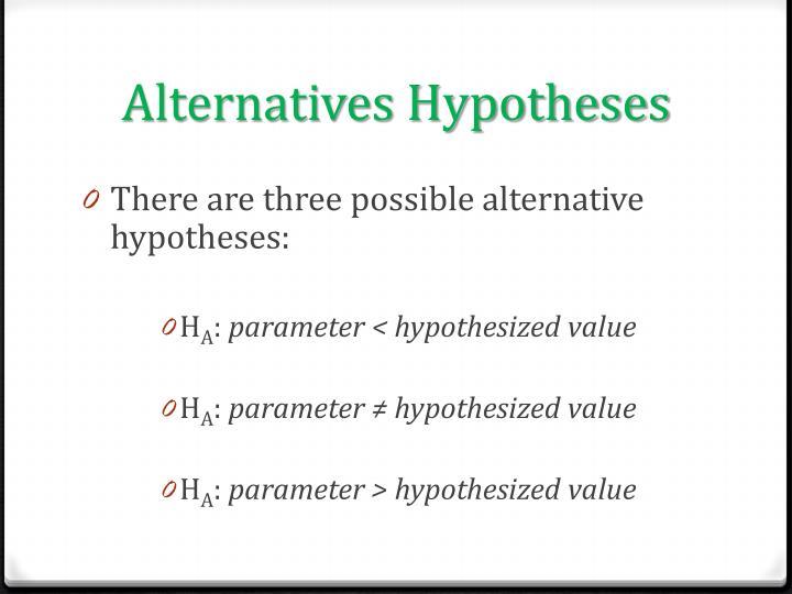 Alternatives Hypotheses