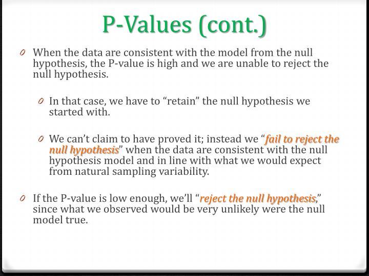 P-Values (cont.)