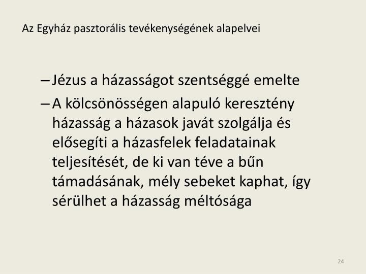 Az Egyház pasztorális tevékenységének