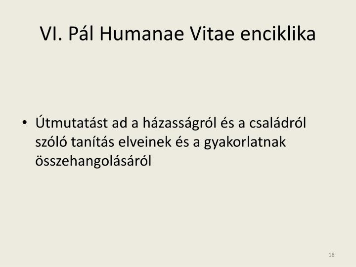 VI. Pál Humanae Vitae