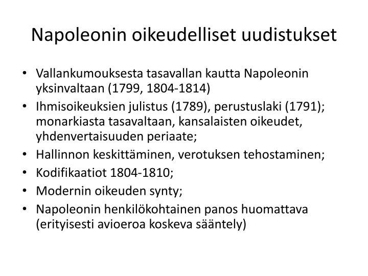 Napoleonin oikeudelliset uudistukset