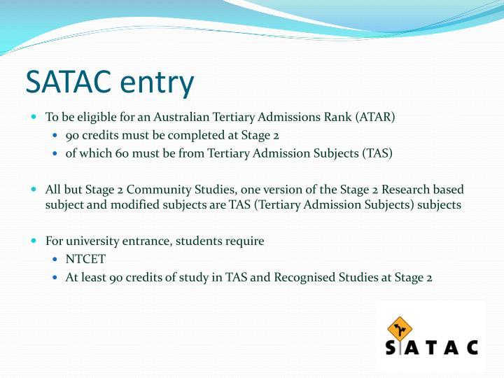 SATAC entry