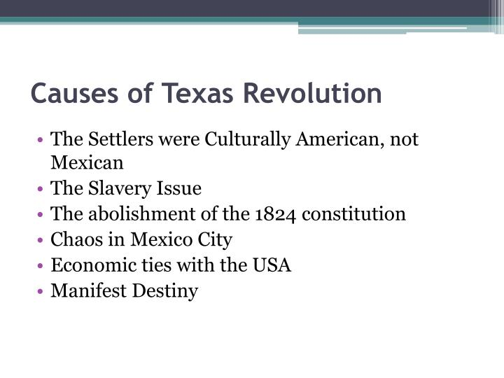 Causes of Texas