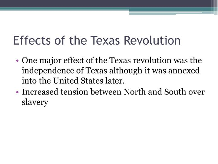 Effects of the Texas Revolution