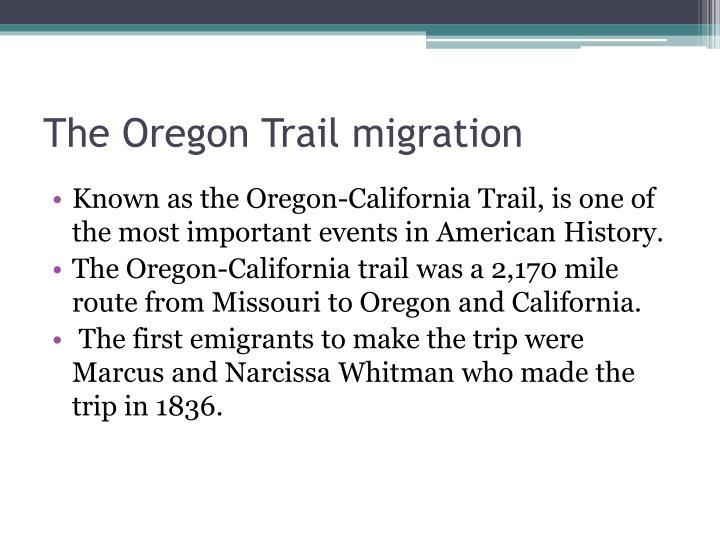 The Oregon Trail migration