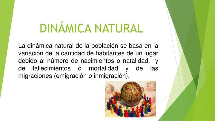 DINÁMICA NATURAL