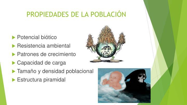 PROPIEDADES DE LA POBLACIÓN