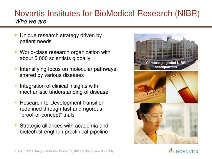 Novartis institutes for biomedical research nibr who we are