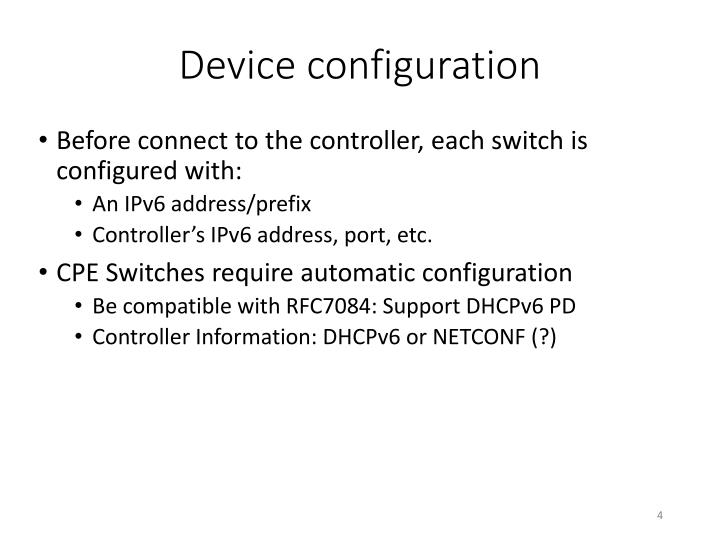 Device configuration