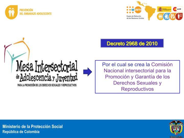 Decreto 2968 de 2010