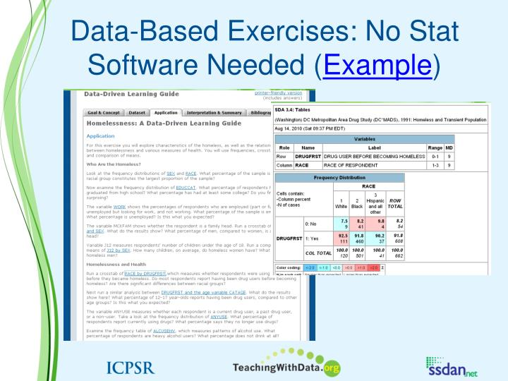 Data-Based Exercises: No Stat Software Needed (